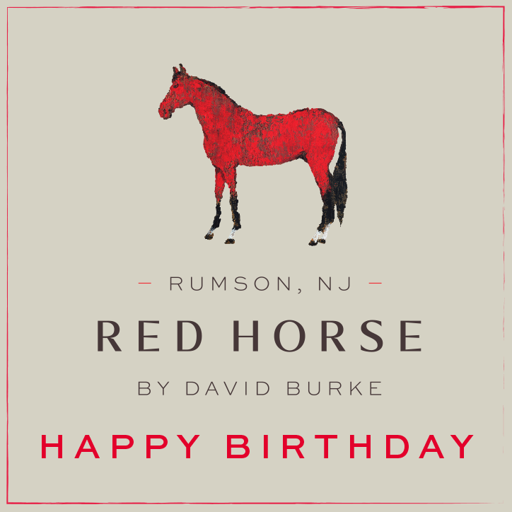 Happy Birthday Gift Card for Red Horse by David Burke