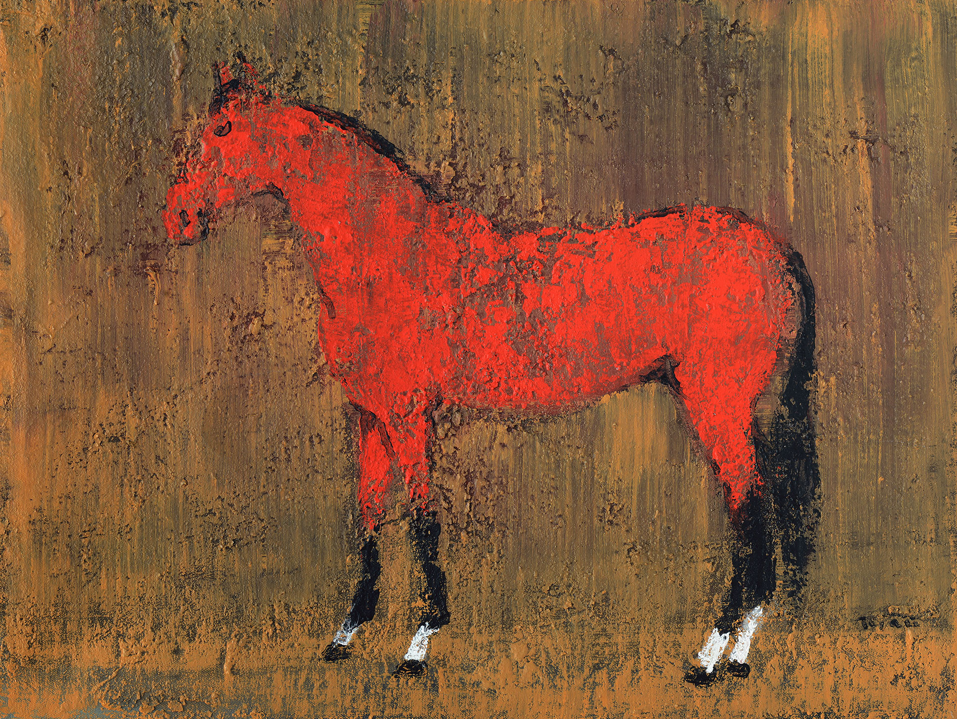 Red Horse Painting